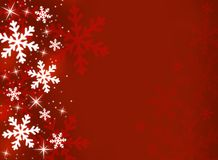 Snowflakes. Decorative snowflakes on a red background Stock Photography