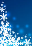 Snowflakes. Decorative snowflakes on a blue background Stock Images