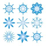 Snowflakes. Kit of ial snowflakes for typography Christmas, New Year's card, calendars et cetera Royalty Free Stock Image