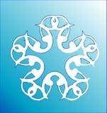 Snowflakes. Decorative Snowflake Ornament, Modern Christmas Illustration Design Royalty Free Stock Image