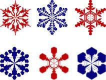 Snowflakes. Different snowflakes Royalty Free Stock Photos