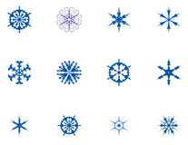 Snowflakes. Collection of snowflakes, vector illustrations Royalty Free Stock Photo