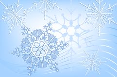 Snowflakes Abstract Stock Photography