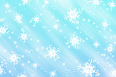 Snowflakes abstract background Stock Photography