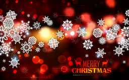 Snowflakes on abstract Christmas background Royalty Free Stock Image