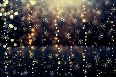 Snowflakes on an abstract shiny light background vector illustration