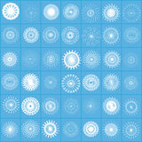 Snowflakes for all tastes. At goubom background Royalty Free Stock Image