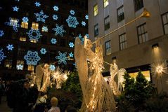 Snowflakes and Angels Rockefeller Center Stock Images