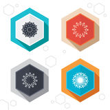 Snowflakes artistic icons. Air conditioning Stock Images
