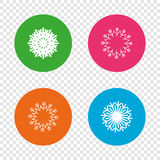 Snowflakes artistic icons. Air conditioning. Royalty Free Stock Photography