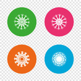 Snowflakes artistic icons. Air conditioning. Stock Image