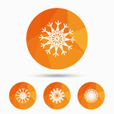 Snowflakes artistic icons. Air conditioning. Stock Images