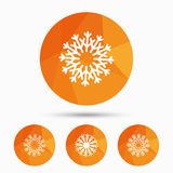 Snowflakes artistic icons. Air conditioning. Royalty Free Stock Photos