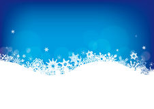 Snowflakes as christmas background Royalty Free Stock Photos