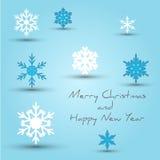 Snowflakes att gifta sig jul Royaltyfri Illustrationer