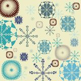 Snowflakes background Stock Image