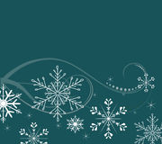 Snowflakes background. Winter background with snowflakes and stars Stock Photo