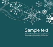 Snowflakes background. Winter background with snowflakes and stars Royalty Free Stock Image