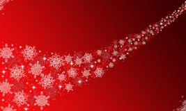Snowflakes background. Illustration of a red background with a snowflakes path Royalty Free Stock Photography