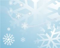 Snowflakes Background Stock Images