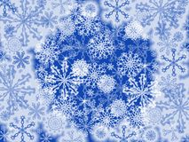 Snowflakes background. Computer generated illustration of snowflakes background Stock Photos