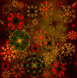 Snowflakes background. Grunge colorful snowflakes background; illustration Stock Photos