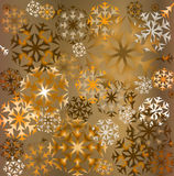 Snowflakes background. Grunge colorful snowflakes background; illustration Royalty Free Stock Photography