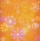 Snowflakes background. Grunge colorful snowflakes background; illustration Royalty Free Stock Photos