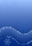 Snowflakes background. Blue vector flowing snowflakes background Stock Photos