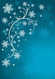 Snowflakes background vector illustration