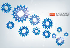 Snowflakes background. 3D snowflakes abstract christmas greeting on silver background Royalty Free Stock Images