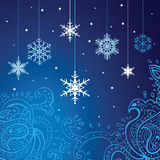 Snowflakes   background. Winter snowflakes background. New Year Vector illustration Stock Images