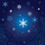 Snowflakes   background. Winter snowflakes background. New Year Vector illustration Royalty Free Stock Photo