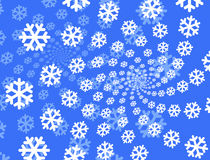 Snowflakes background. White and blue snowflakes different size for background Royalty Free Stock Photos