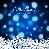 Snowflakes background Royalty Free Stock Image