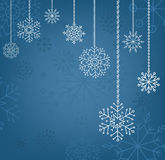 Snowflakes background, christmas and new year decoration for your design Royalty Free Stock Images