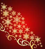 Snowflakes background / christmas / vector royalty free illustration