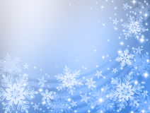 Snowflakes background. Cute bright colors of snowflake background.Christmas and New Year Royalty Free Stock Images
