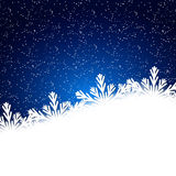 Snowflakes background with falling snow. Christmas Background. Royalty Free Stock Images