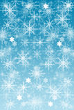 Snowflakes background. Frozen Christmas Background for your own creations Royalty Free Stock Photography