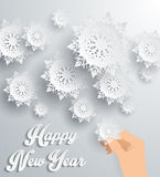 Snowflakes Background. Happy New Year. Snowflakes background for winter and New Year, christmas theme. Snow, christmas, snowflake background, snowflake winter Royalty Free Stock Photography