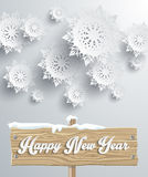 Snowflakes Background. Happy New Year Stock Photos