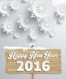 Snowflakes Background. Happy New Year Stock Image