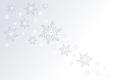 Snowflakes background Stock Photo