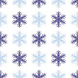 Snowflakes background in light gray colors Stock Photography