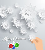 Snowflakes Background. Merry Christmas Royalty Free Stock Photo