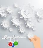 Snowflakes Background. Merry Christmas Royalty Free Stock Photo