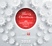 Snowflakes Background. Merry Christmas Stock Images
