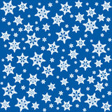 Snowflakes Background Pattern Blue Royalty Free Stock Images