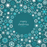 Snowflakes background with place for text Royalty Free Stock Image